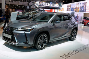 BRUSSELS, BELGIUM - JANUARY 18:  The new Lexus UX 250h is exposed at the 97th Brussels Motor Show on January 18, 2019  (Photo by Didier Messens/Getty Images)