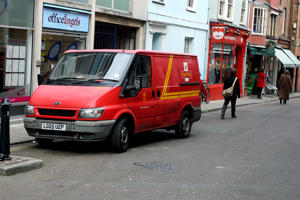 A generic photograph of a Royal Mail van delivering in Oxford   (Photo by Steve Parsons/PA Images via Getty Images)