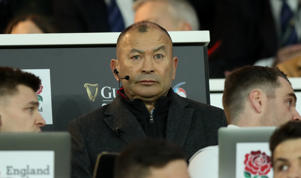 LONDON, ENGLAND - MARCH 16:  Eddie Jones,  the England head coach looks on during the Guinness Six Nations match between England and Scotland at Twickenham Stadium on March 16, 2019 in London, England. (Photo by David Rogers - RFU/The RFU Collection via Getty Images)