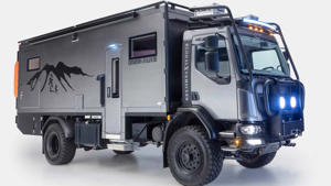a truck that is driving down the road: Global Expedition Vehicles Patagonia