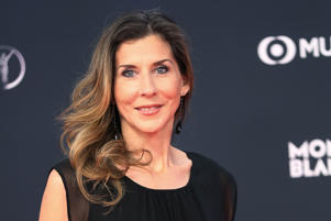 Former US tennis player Monica Seles pose on the red carpet before the 2018 Laureus World Sports Awards ceremony at the Sporting Monte-Carlo complex in Monaco on February 27, 2018. / AFP PHOTO / Valery HACHE        (Photo credit should read VALERY HACHE/AFP/Getty Images)