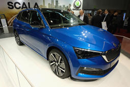 VIENNA, AUSTRIA - JANUARY 10:  A Skoda Scala is displayed during the Vienna Autoshow, as part of Vienna Holiday Fair on January 10, 2019 in Vienna, Austria. The Vienna Autoshow will be held from January 10-13.  (Photo by Manfred Schmid/Getty Images)