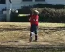 Toddler absolutely crushes baseball pitch