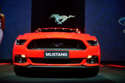 NEW DELHI, INDIA - JANUARY 28:   Launch  of Ford mustang on January 28, 2016 in New Delhi, India. Ford Mustang Price in India is expected to be around INR 75 Lakhs.  (Photo by Pradeep Gaur/Mint via Getty Images)