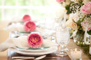 Easter, Mother's Day and Special Occasion Dining Place Settings