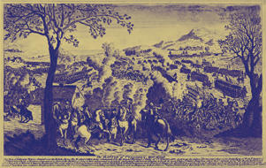 The Battle of Culloden, 1746. The Battle of Culloden was final confrontation of the 1745 Jacobite Rising in Scotland. 18th century engraving by an unknown artist.
