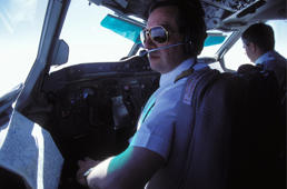 FRANCE - APRIL 01:  Illustration: Air France pilot In France In April, 1996.  (Photo by Etienne DE MALGLAIVE/Gamma-Rapho via Getty Images)