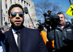 Actor Jussie Smollett leaves court after charges against him were dropped by state prosecutors in Chicago, Illinois, U.S. March 26, 2019.