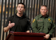 U.S. Customs and Border Protection Commissioner Kevin K. McAleenan speaks about the impact of the dramatic increase in illegal crossings that continue to occur along the Southwest during a news conference, in El Paso, Texas March 27, 2019. REUTERS/Jose Luis Gonzalez