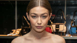PARIS, FRANCE - FEBRUARY 27: Model Gigi Hadid attends the 'Double Exposure': Prada hosts book signing event with Willy Vanderperre at Prada Faubourg St Honoré on February 27, 2019 in Paris, France. (Photo by Marc Piasecki/WireImage)