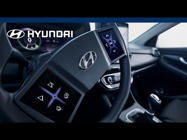 a close up of a car: The requirements for a modern cockpit have changed enormously over the past decade. With an ever-growing variety of information shared with the driver, especially on displays, Hyundai is continuously working on new technologies that make our cars perfectly intuitive and user-friendly.  The latest developments were recently assessed in our Hyundai i30 test vehicle, including a steering wheel equipped with two customizable displays. While still an early prototype, the virtual cockpit offers a platform for exciting new features as the technology continues to evolve.