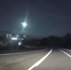 Highly visible meteor caught on dash cam