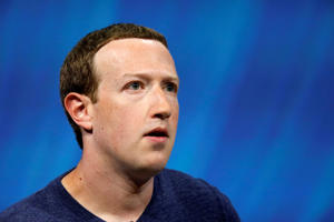 Facebook's founder and CEO Mark Zuckerberg