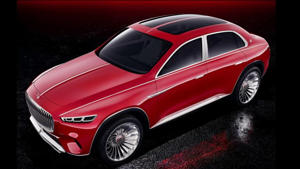 a red car parked in a parking lot: Vision Mercedes-Maybach Ultimate Luxury leaked official image