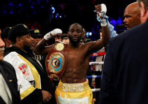 Boxing - Terence Crawford v Amir Khan - WBO World Welterweight Title - Madison Square Garden, New York, U.S. - April 20, 2019. Terence Crawford celebrates winning the fight. Action Images via Reuters/Andrew Couldridge