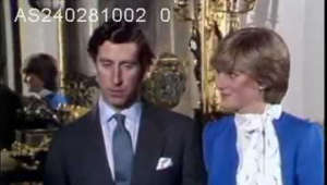 a person wearing a suit and tie: The first official interview given by Lady Diana and Prince Charles since their engagement was announced. 24.2.81