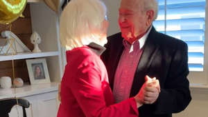 Couple goals! Grandparents celebrate 75th anniversary with a romantic dance