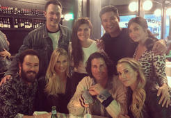 The original 'Saved By The Bell' cast reunites for a casual dinner