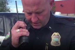 Police officer makes emotional final radio call