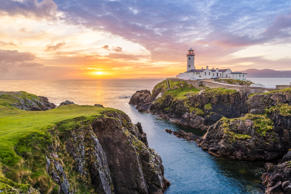 Fanad Head lighthouse, County Donegal, Ulster region, Republic of Ireland, Europe.