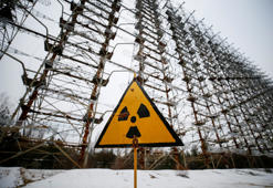 "Constructions of a former Soviet Union over-the-horizon (OTH) radar system ""Duga"" are seen near the Chernobyl Nuclear Power Plant, near Chernobyl, Ukraine November 22, 2018. Picture taken November 22, 2018.  REUTERS/Gleb Garanich"