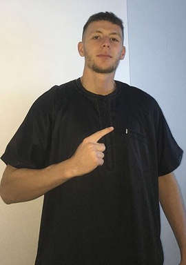 Salah Abdeslam in a black shirt: Youssef Uweinat, from Riverwood in Sydney's west, was arrested at his family home on Wednesday morning by counterterrorism police