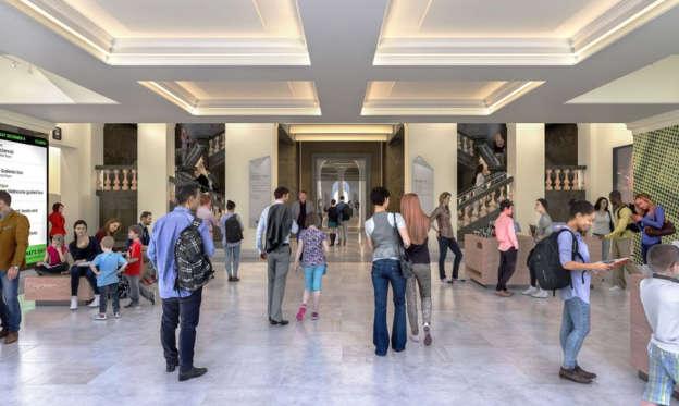 Swanston Street foyer entry.