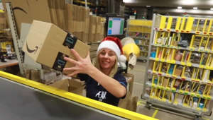 Behind the scenes of an Amazon warehouse on Black Friday