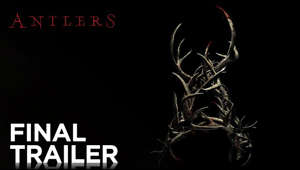 a close up of a logo: In ANTLERS, a small-town Oregon teacher (Keri Russell) and her brother (Jesse Plemons), the local sheriff, discover that a young student (Jeremy T. Thomas) is harboring a dangerous secret with frightening consequences.  Directed by: Scott Cooper  Screenplay by: C. Henry Chaisson & Nick Antosca and Scott Cooper, based upon the short story THE QUIET BOY by Nick Antosca  Produced by: Guillermo del Toro, p.g.a., David Goyer, p.g.a., J. Miles Dale,p.g.a.  Cast: Keri Russell, Jesse Plemons,  Jeremy T. Thomas, Graham Greene, Scott Haze, Rory Cochrane, Amy Madigan   #Antlers #FoxSearchlight  Connect with Fox Searchlight Online: Visit the Fox Searchlight WEBSITE: http://foxsearchlight.com/  Like Fox Searchlight on FACEBOOK: https://www.facebook.com/foxsearchlight Follow Fox Searchlight on TWITTER: https://twitter.com/foxsearchlight  ANTLERS | Final Trailer [HD] | FOX Searchlight https://www.youtube.com/user/FoxSearchlight