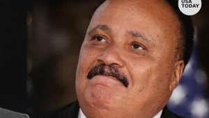 Martin Luther King III wearing a suit and tie: Martin Luther King III remembers his father and how he keeps Dr. King Jr.'s legacy alive