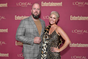 BEVERLY HILLS, CALIFORNIA - SEPTEMBER 20: (L-R) Chris Sullivan and Rachel Reichard attend the 2019 Pre-Emmy Party hosted by Entertainment Weekly and L'Oreal Paris at Sunset Tower Hotel in Los Angeles on Friday, September 20, 2019. (Photo by Emma McIntyre/Getty Images for Entertainment Weekly)
