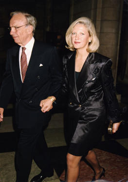 Divorce settlement: Estimated at $100 million. Rupert Murdock and wife Anna Murdoch in August 24, 1995.