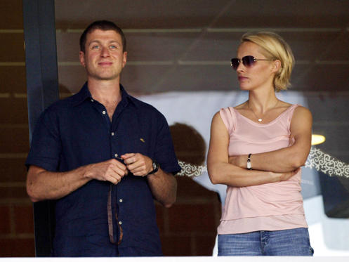Divorce settlement: Estimated at $300 million.  In Picture: Roman Abramovich with wife Irina Abramovich in 2004.
