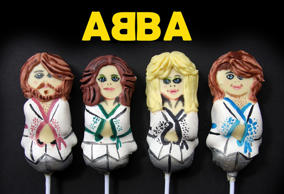 Another cake pop of Swedish pop group ABBA by creative baker Miss Insomnia.