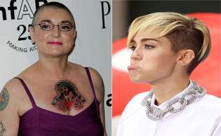 Songwriter Sinead O'Connor's feud with former Disney star Miley Cyrus went to another level when O'Connor said that Cyrus' parents should be ashamed of themselves. Take a look at some other celebrities who have been at loggerheads in recent times.