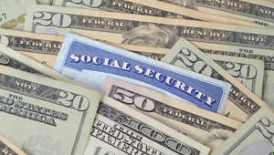 Social security card and money 178491316