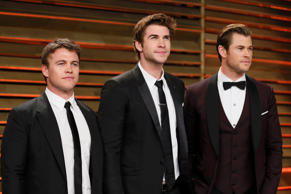 Family 'Ties': Luke (left), Liam, and Chris (right) Hemsworth