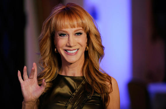 Slide 1 of 40: Host Kathy Griffin waves to photographers at the Montage Hotel on Nov. 3, 2014, in Beverly Hills, Calif.