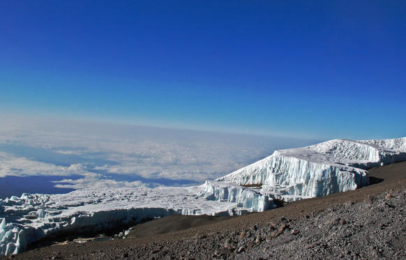 They've been around for at least 10,000 years, but Mount Kilimanjaro's glaciers have shrunk by 80 per cent in roughly the past century, according to the UN. The combined impact of global warming and changes in land use have likely contributed to glacial decline and they will be completely gone by 2022, scientists said in 2009.