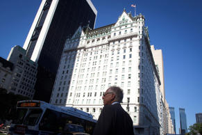 A general view of the Plaza Hotel in the Manhattan borough of New York August 18, 2014. A spokesman for the Sultan of Brunei dismissed a report by the Wall Street Journal online that he had made a bid for New York's Plaza Hotel, Dream Hotel and London's Grosvenor House hotel. The Journal's website edition reported on Saturday, citing people familiar with the situation, that an investment firm affiliated with Brunei had offered to pay $2 billion for the three hotels, which are currently owned by India's Sahara conglomerate. REUTERS/Carlo Allegri (UNITED STATES - Tags: BUSINESS TRAVEL REAL ESTATE)