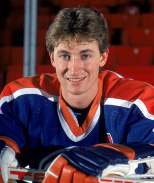 Slide 1 of 11: Wayne Gretzky of the Edmonton Oilers poses for a portrait in 1985. Bruce Bennett/Getty Images