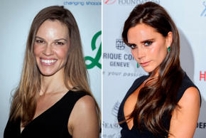 The Oscar winning actress Hilary Swank and fashionista Victoria Beckham are both born in 1974.