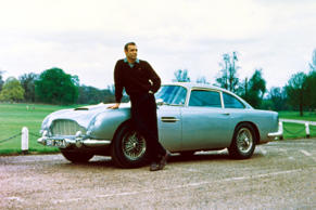 Movie: Goldfinger (1964), Thunderball (1965)  Before he drove it in Casino Royale later on, Bond the DB5 in Goldfinger and Thunderball. To the car, an ejector seat, machine guns, a smoke screen, and tyre slashers were added.