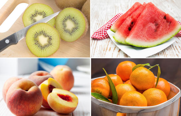 Fruits and vegetables that don't require peeling