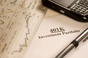 401(k) investment paperwork.