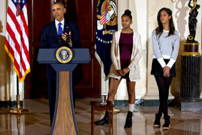 "Barack Obama's daughters - Sasha and Malia were recently accused of showing disrespect and lacking ""class"" by a Republican official after appearing in short skirts at a Thanksgiving ceremony. It is never easy escaping the spotlight when one is a part of the First Family. Let's take a look at how the sisters have grown up under the limelight."