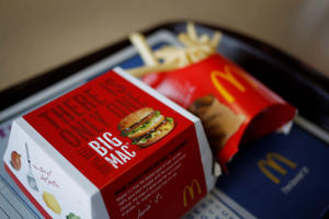 arranged for a photograph at a restaurant in Scottsburg, Indiana, U.S., on Monday, July 21, 2014. McDonald's Corp., the largest restaurant chain by sales, posted second-quarter profit that trailed analysts' estimates after a U.S. sales slump lingered.