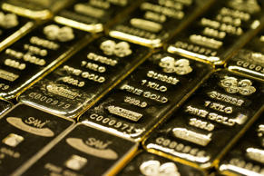 One kilogram gold bars.