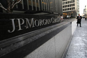 The JPMorgan Chase headquarters stands in Midtown Manhattan in New York City.  John Moore/Getty Images