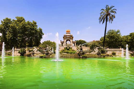 Cascada fountain in Barcelona. Catalonia, Spain